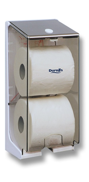 2 Roll Cored Toilet Tissue Dispenser