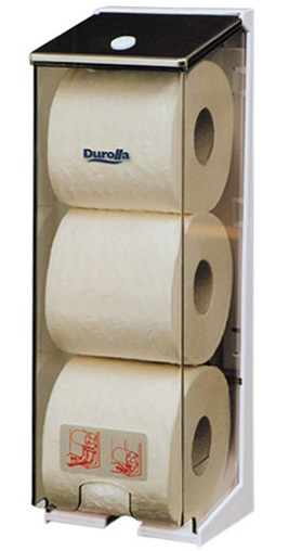 3 Roll Cored Toilet Tissue Dispenser