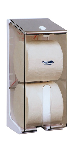 2 Roll Toilet Tissue Dispenser for Solid Rolls