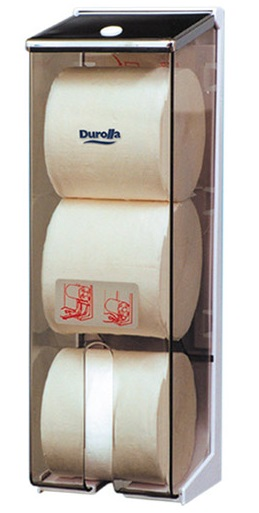 3 Roll Toilet Tissue Dispenser for Solid Rolls